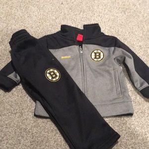 Reebok Boston Bruins sweat suit.  Size 18 months.